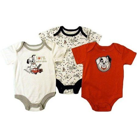 Amazon Com Disney 101 Dalmatians 3 Pack Onesies 3 6m Everything Else Disney Baby Clothes Baby Boy Outfits Baby Boy Shorts