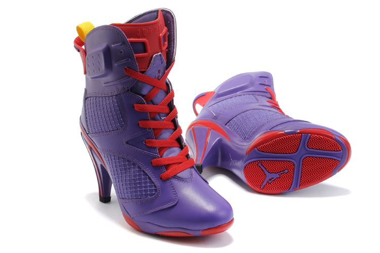 Buy Air Jordan 6 VI Womens Heels Ankle Boots 2012 Purple Red Sexy Charming  Online from Reliable Air Jordan 6 VI Womens Heels Ankle Boots 2012 Purple  Red ...