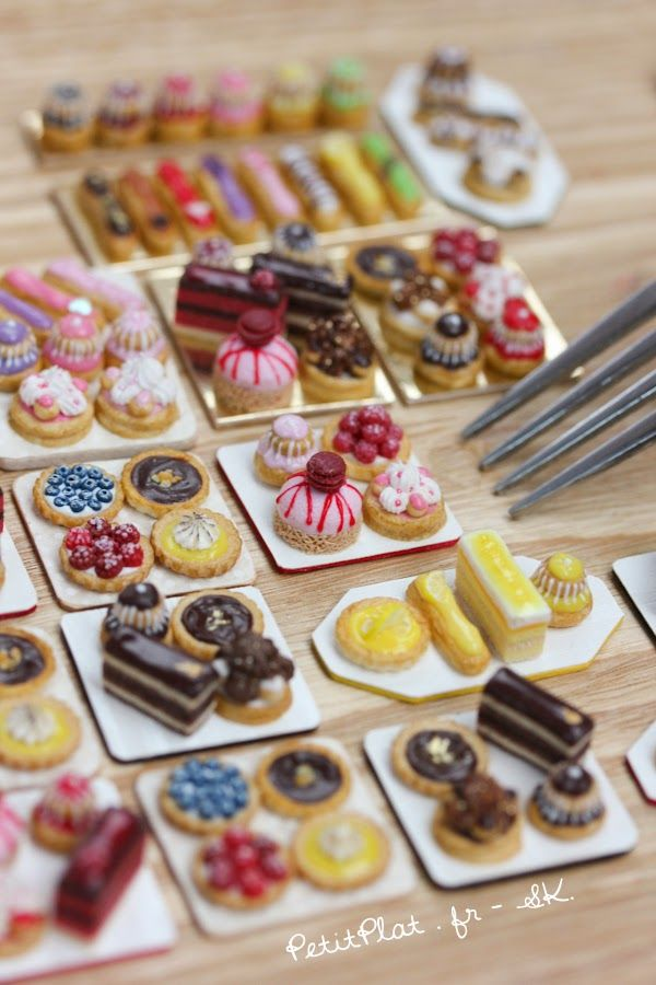 Miniature Modern Pâtisseries, Stephanie Kilgast, PetitPlat Food Art