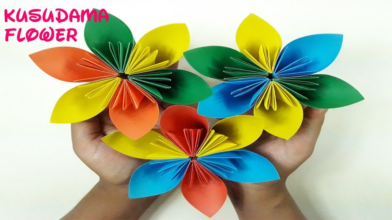 Easy Origami Kusudama Paper Flower Tutorial 3d Origami Flower How To