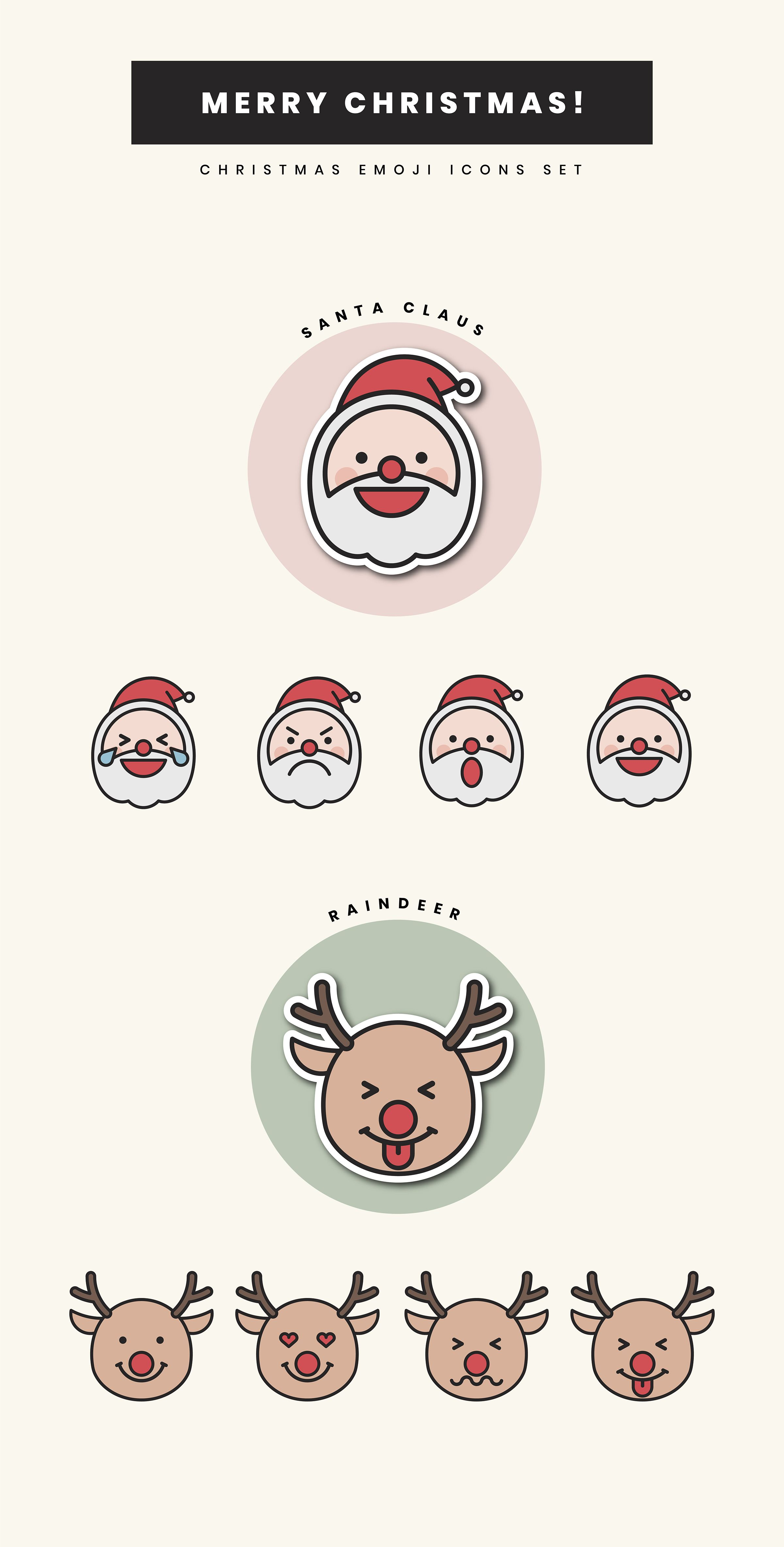 Download these royaltyfree Christmas emoji icon
