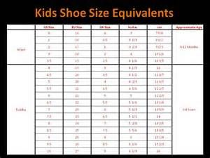 childrens shoe sizes in inches