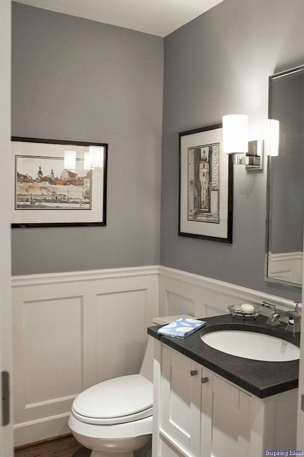 Half Bathroom Ideas A Half Bathroom Is Small However That Does Not Indicate It Is Excused From A Few Tiny Powder Rooms Small Bathroom Remodel Tiny Bathrooms