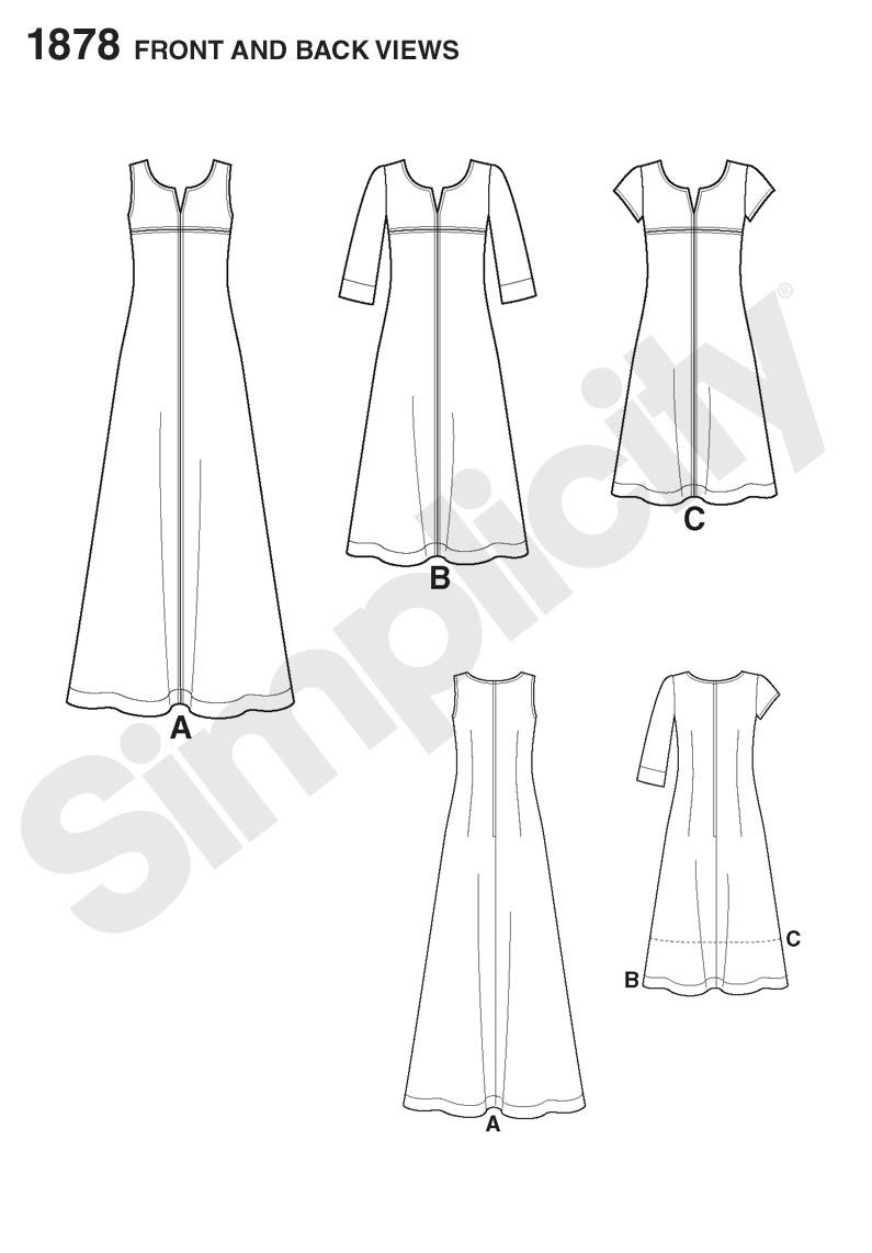 Line art for simplicity pattern 1878 lisette sew your style my line art for simplicity pattern 1878 lisette sew your style jeuxipadfo Choice Image