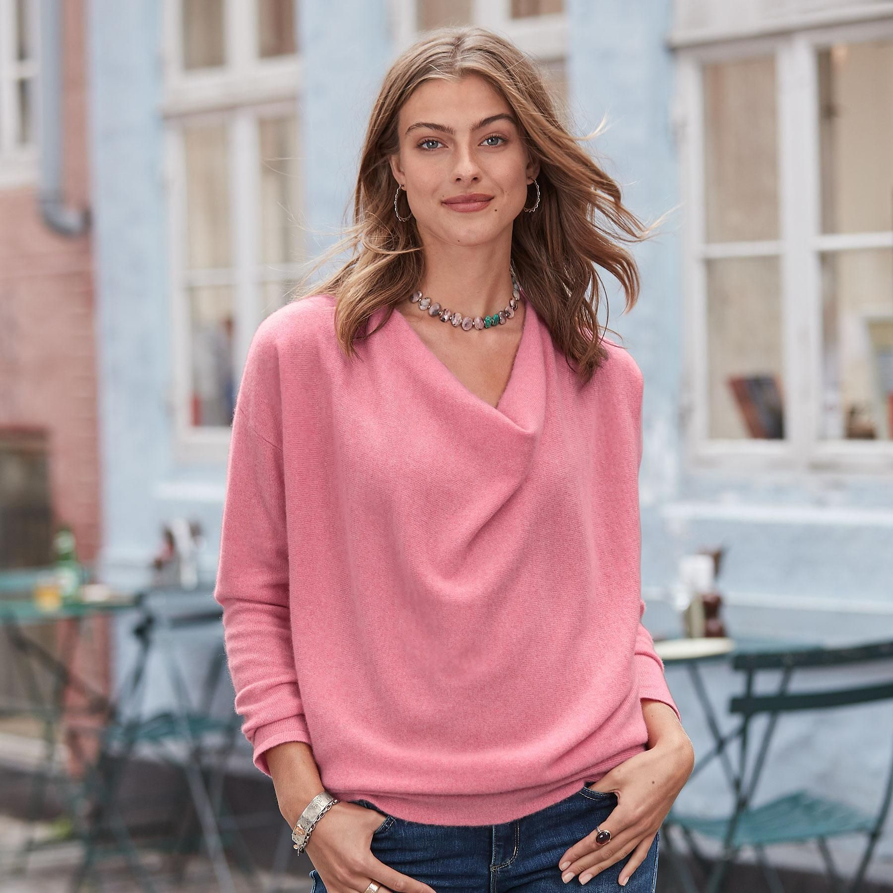 NEW Simple Truths Cashmere Sweater – Petites | Cowl neck