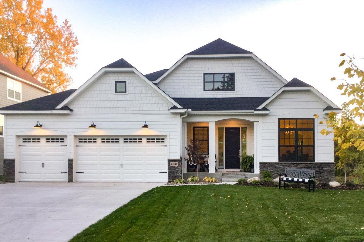 Plan 73390hs Gorgeous New American 3 Bedroom House Plan With Angled Views Denah Rumah Arsitektur Rumah Impian