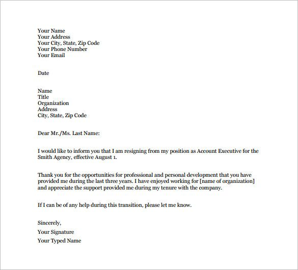 letter boss thank you sad leave note when leaving sample message - fax templates for word
