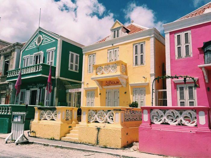 Colorful Houses In Pietermaai Historic District Curacao CaribbeanWanderlust