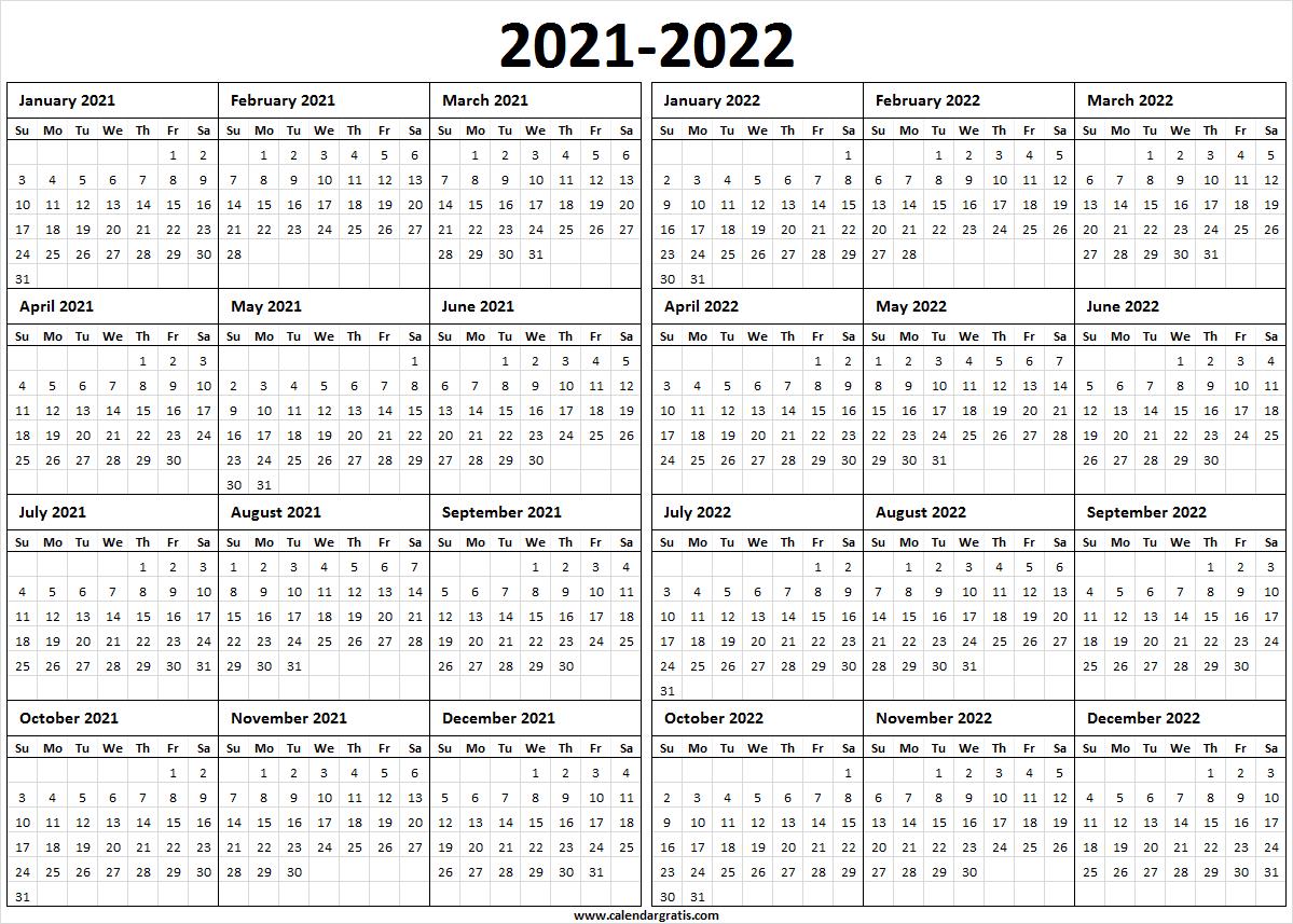 Printable Calendar 2021 Template for School | 2021 2022 Calendar