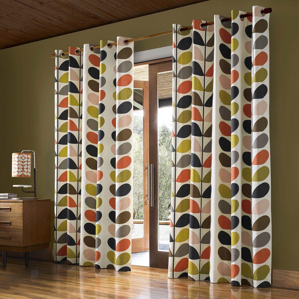 Buy Orla Kiely Multi Stem Eyelet Curtains - 229x137cm | Amara #windowtreatments