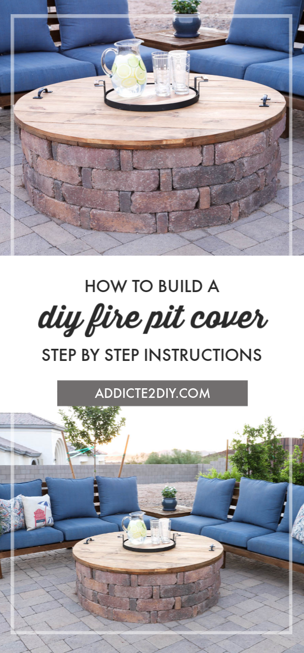 DIY Wooden Fire Pit Cover #diyfirepit
