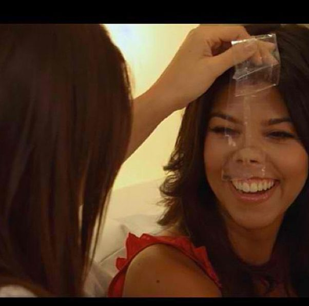 When she did this to Kourtney's face. Khloe kardashian