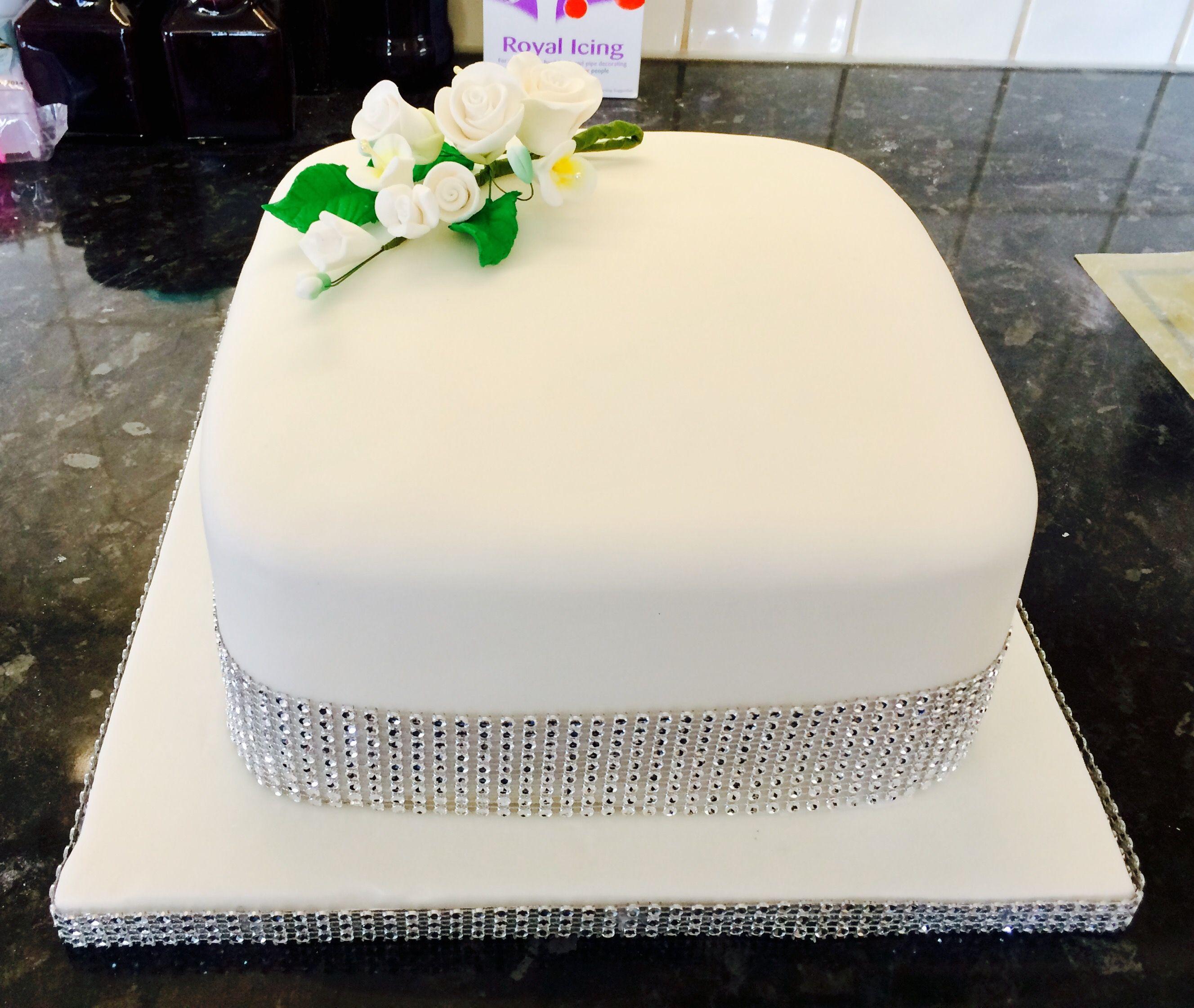 Diamond wedding anniversary cake 🎂 | Mar Mars cakes made with love ...