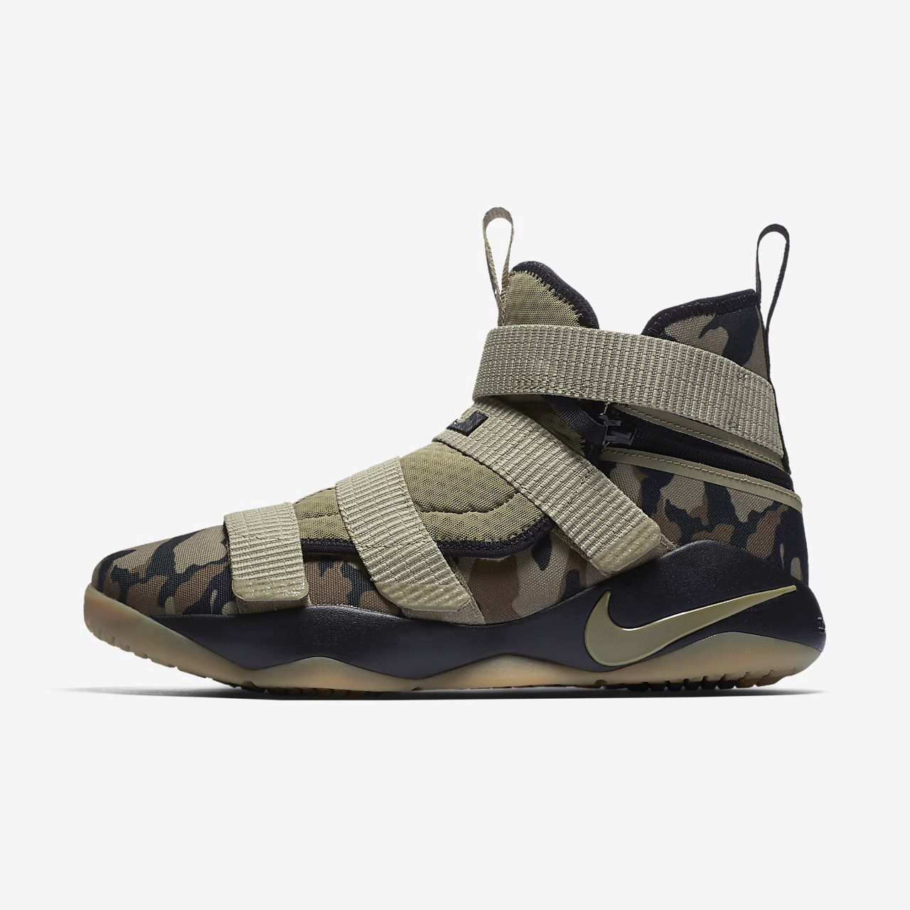 finest selection 91aac 64a6b Nike Lebron Soldier Xi Flyease (Extra Wide) Basketball Shoe ...
