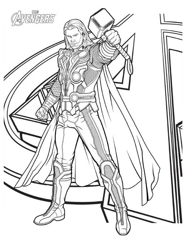 Avengers Character Thor Coloring Page Download Print Online Coloring Pages For Free Color Nimb In 2020 Marvel Coloring Avengers Coloring Pages Superhero Coloring