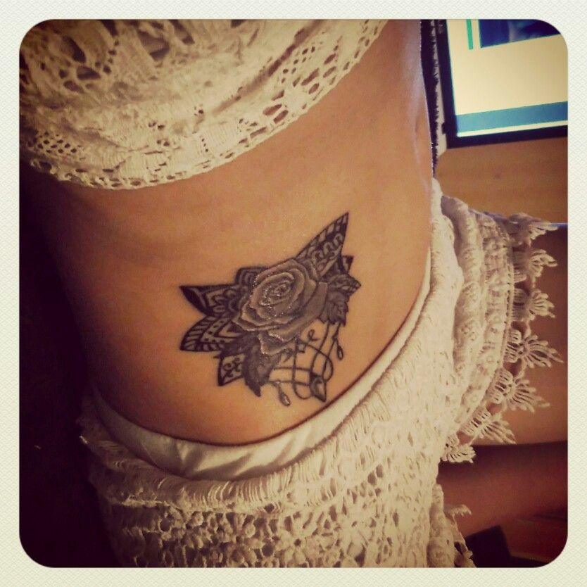 Tattoo #rose #flower #ink