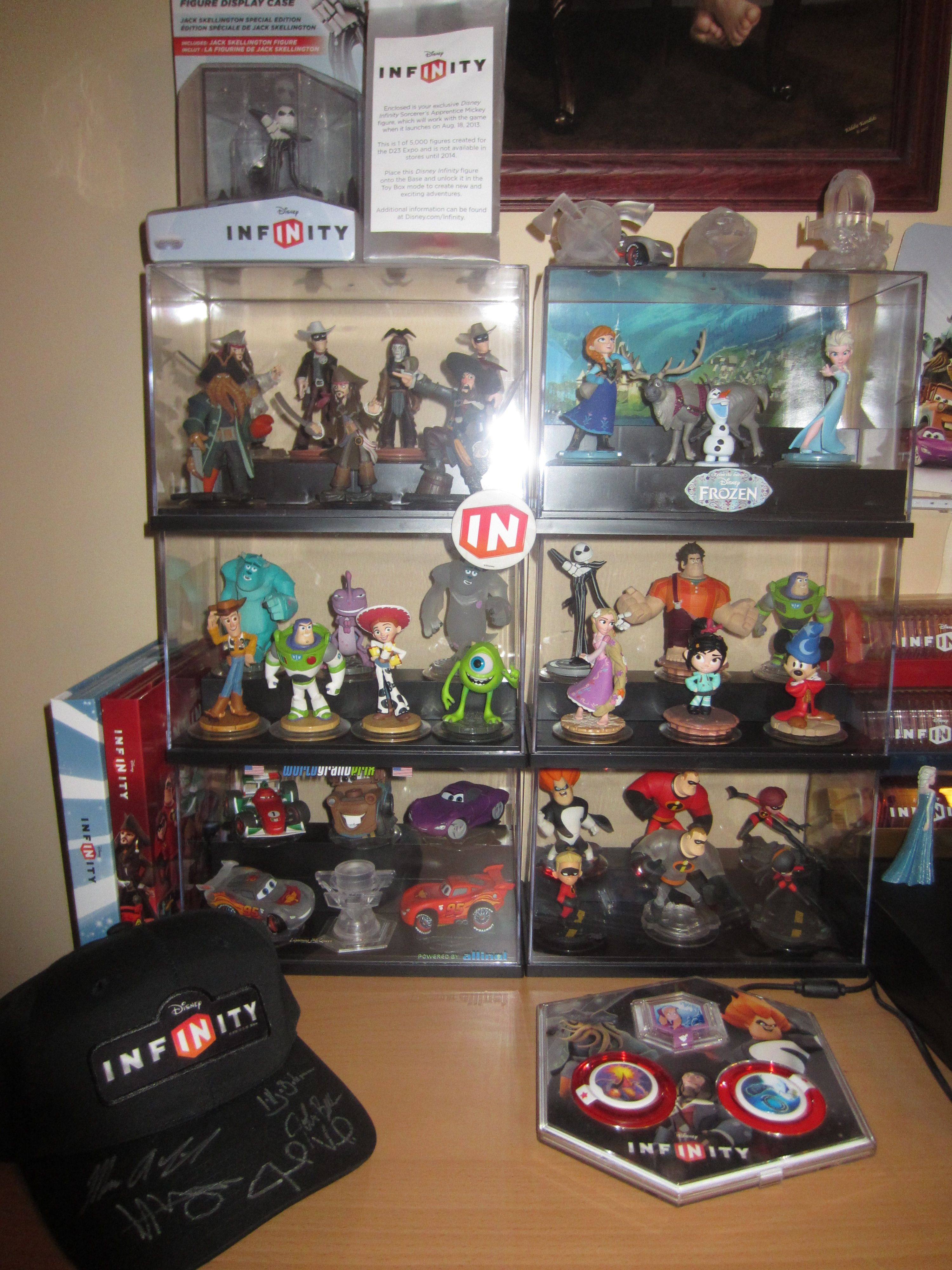 a254fb206 My personal collection all in their cases for safe keeping. | Disney ...