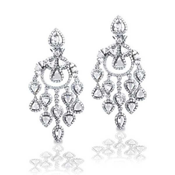 King jewelers rose diamond chandelier earrings the luckiest king jewelers rose diamond chandelier earrings mozeypictures Images
