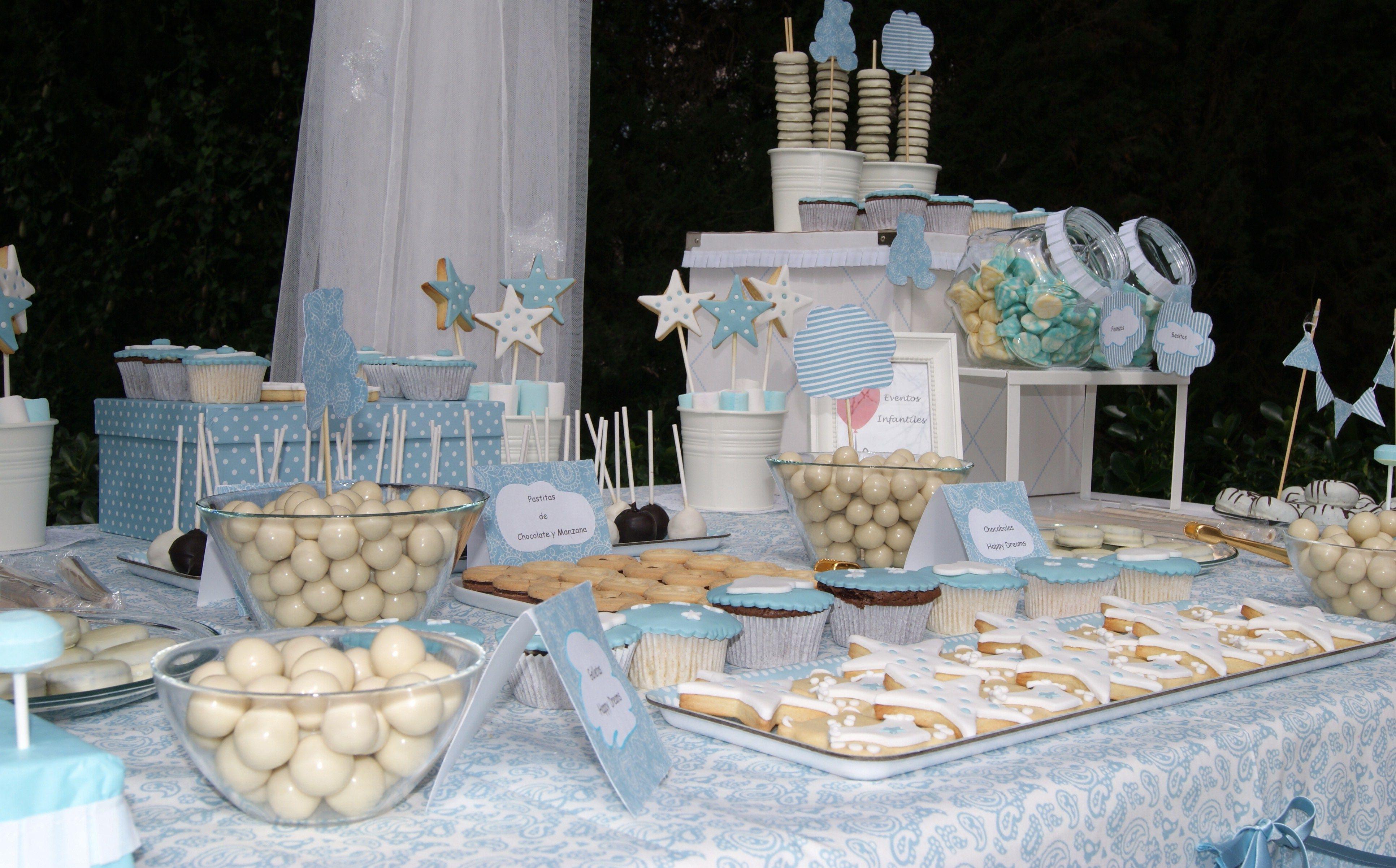 Bautizo mesa dulce tem tica happy dreams bautizo mesa - Decoracion de mesa de bautizo ...