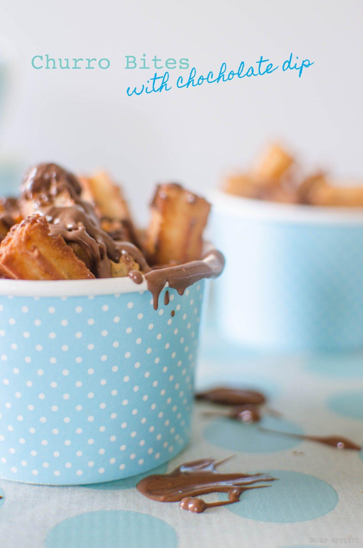 Churro Bites with Chocolate Dip | Churro, Dips and Chocolate