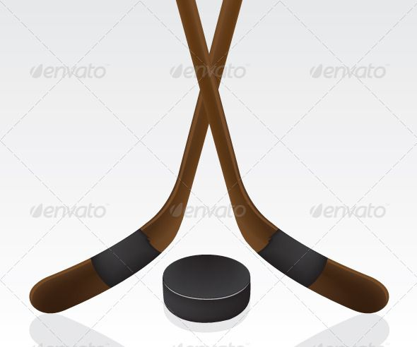 Hockey Puck And Stick Hockey Puck Puck Vector Graphics Design