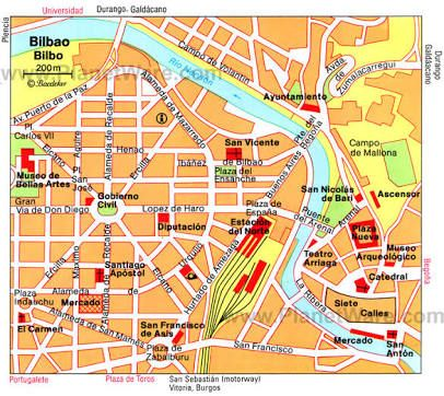 Image result for bilbao spain map Bilbao and San Sebastin Spain