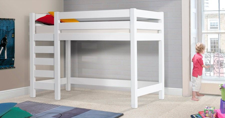 The Wooden High Sleeper Loft Bed Is A Great Addition To Your Childs Bedroom There Plenty Of Room Underneath This Frame Making
