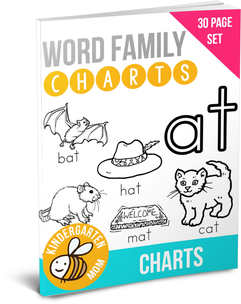 Word Families Are A Group Of Words With The Same Ending For Example Cat Rat Mat Hat Bat Are All Part Of The At Word Word Families Word Work Games Words