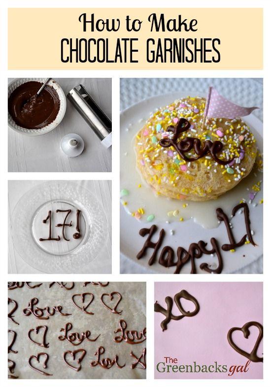 How To Make Chocolate Garnishes At Home Chocolate Garnishes How