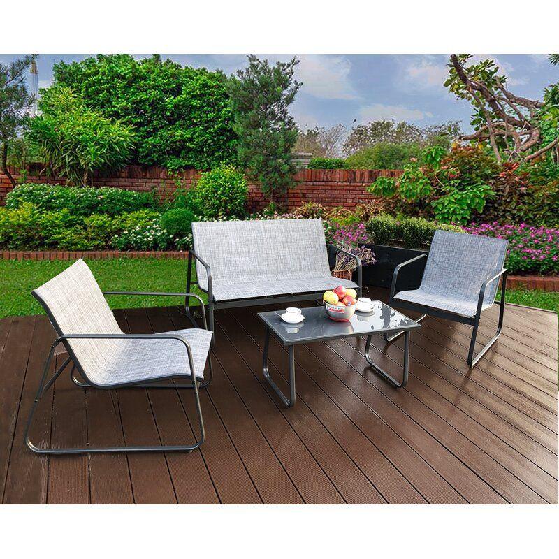 virginio 4 piece complete patio set