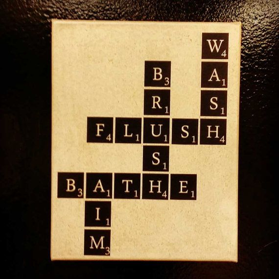 Scrabble bath BC111 vinyl decal sticker lettering home decor wall ...