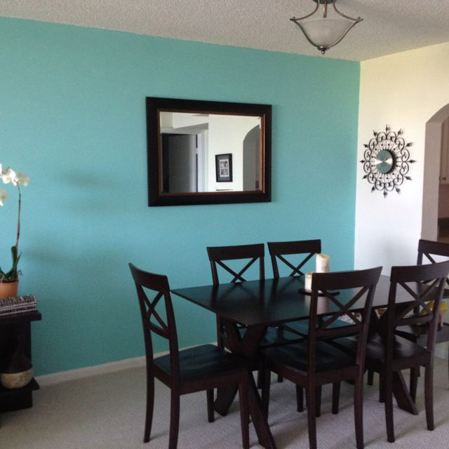Tiffany Blue Dining Room Not Sure About This Shadelove It With White And Dark Brwn Black Though