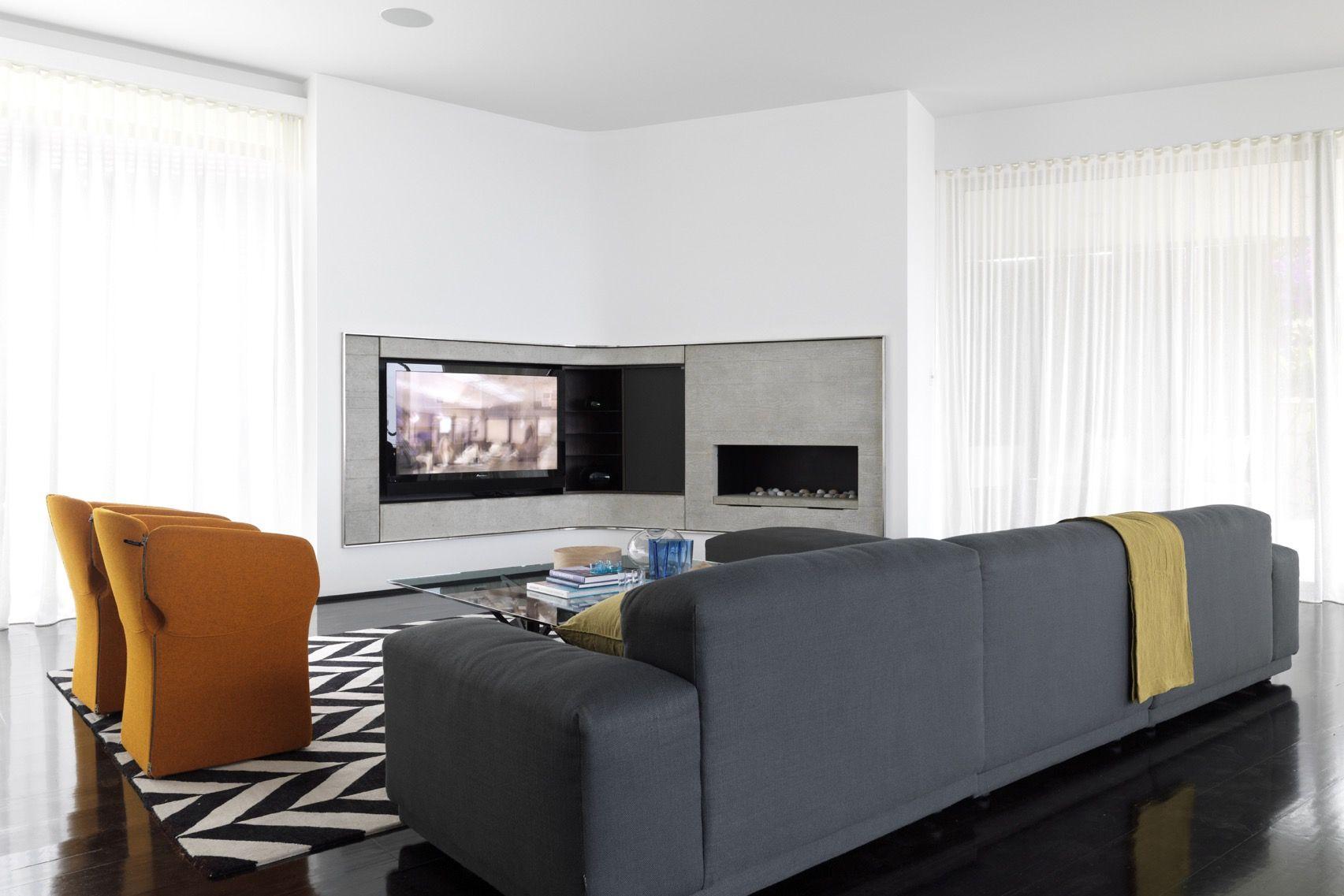 Bronte Beach Home Interior Design - Decus Interiors | Fireplace ...