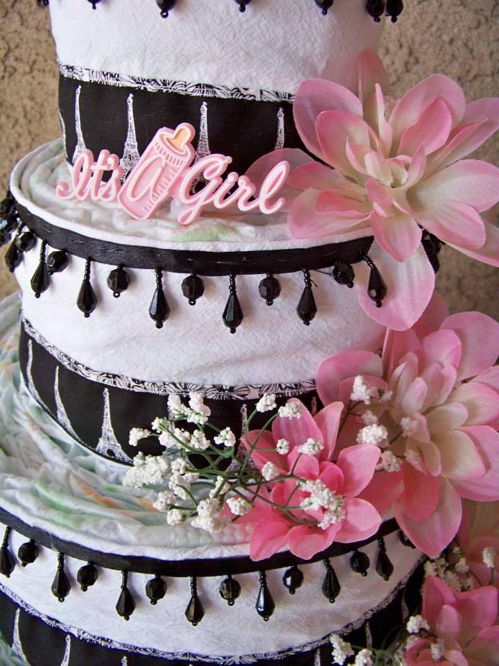 Eiffel Tower Diaper Cake | Baby Shower | Pinterest | Cakes ... |Eiffel Tower Diaper Cake