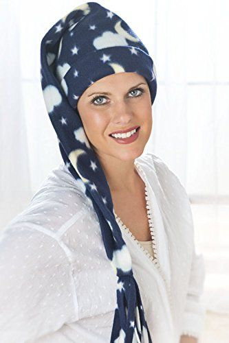 Elf Night Cap Celestial Sleeping Caps for Women or Men - Moon and Stars -  Navy Headcovers Unlimited 0480119afb2