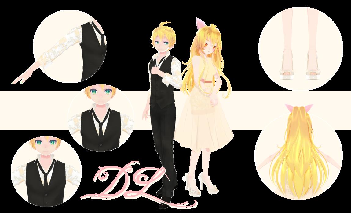 MMD] TDA Spring Love Len and Neru (DL) by HeyMisaki-chan