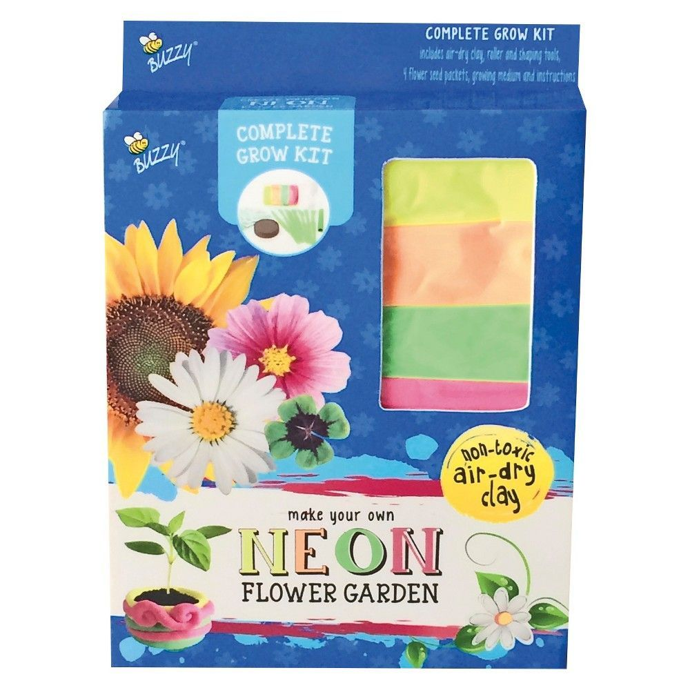 Create And Grow Your Own Air Dry Clay Flower Garden Multicolor