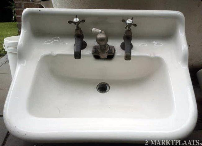 Wastafelmeubel Met Wasbak : Antieke porselein wasbak wasbakken wastafel uit parijs wc