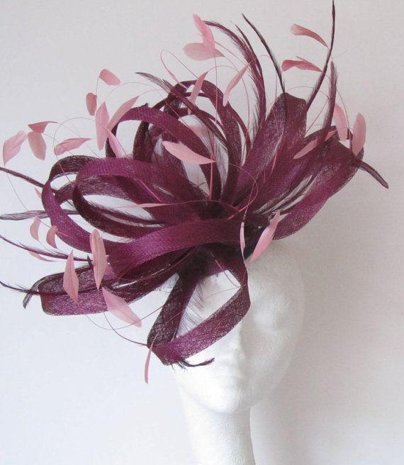 Metalic Silver//Cream  Fascinator Hat for Weddings//Ascot//Proms With Headband K3