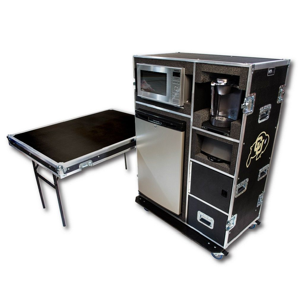 Kitchen In A Case Road Cases Folding Furniture Locker