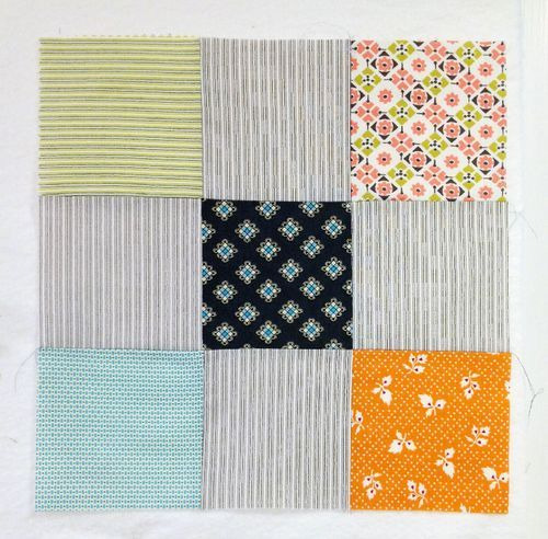 make a disappearing nine patch quilt