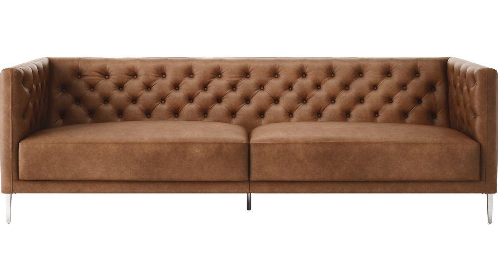 2019 的 savile black leather tufted sofa | Sofa 主题