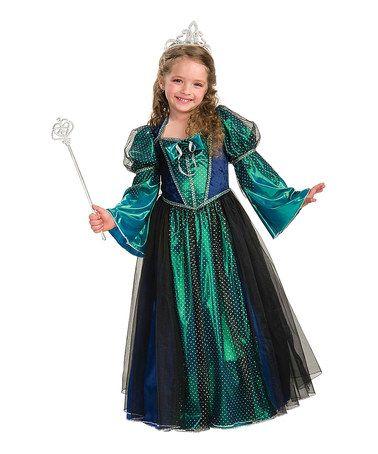 Take a look at this Green Twilight Princess Dress-Up Oufit - Girls - green dress halloween costume ideas