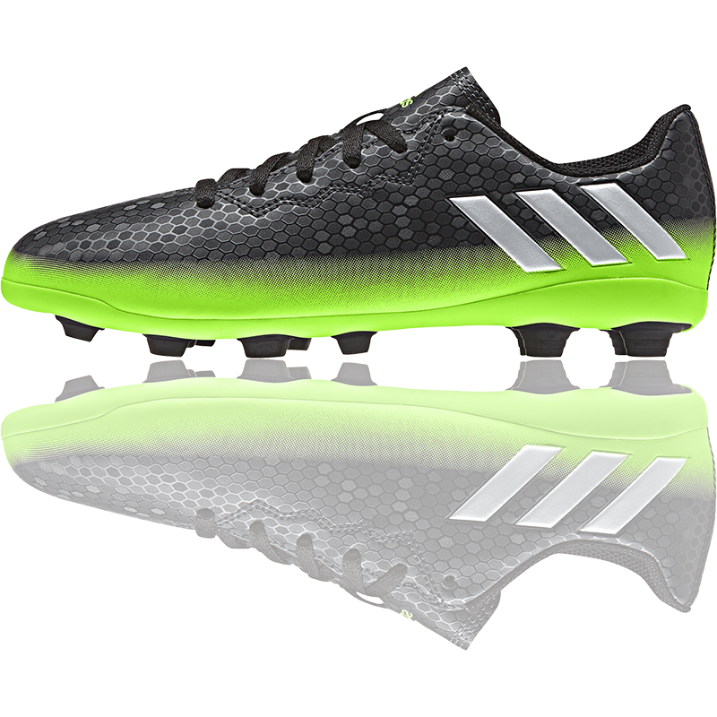 The Football Nation Ltd Adidas Messi 16 4 Kids Boots Fxg Dark Grey Silver Solar Green 34 99 Http Www Thefootballnati Kids Boots Football Boots Boots
