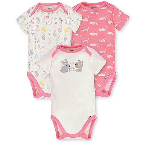 6b778c6bf0902 Gerber® Preemie 3-Pack Organic Cotton Bunny Bodysuits