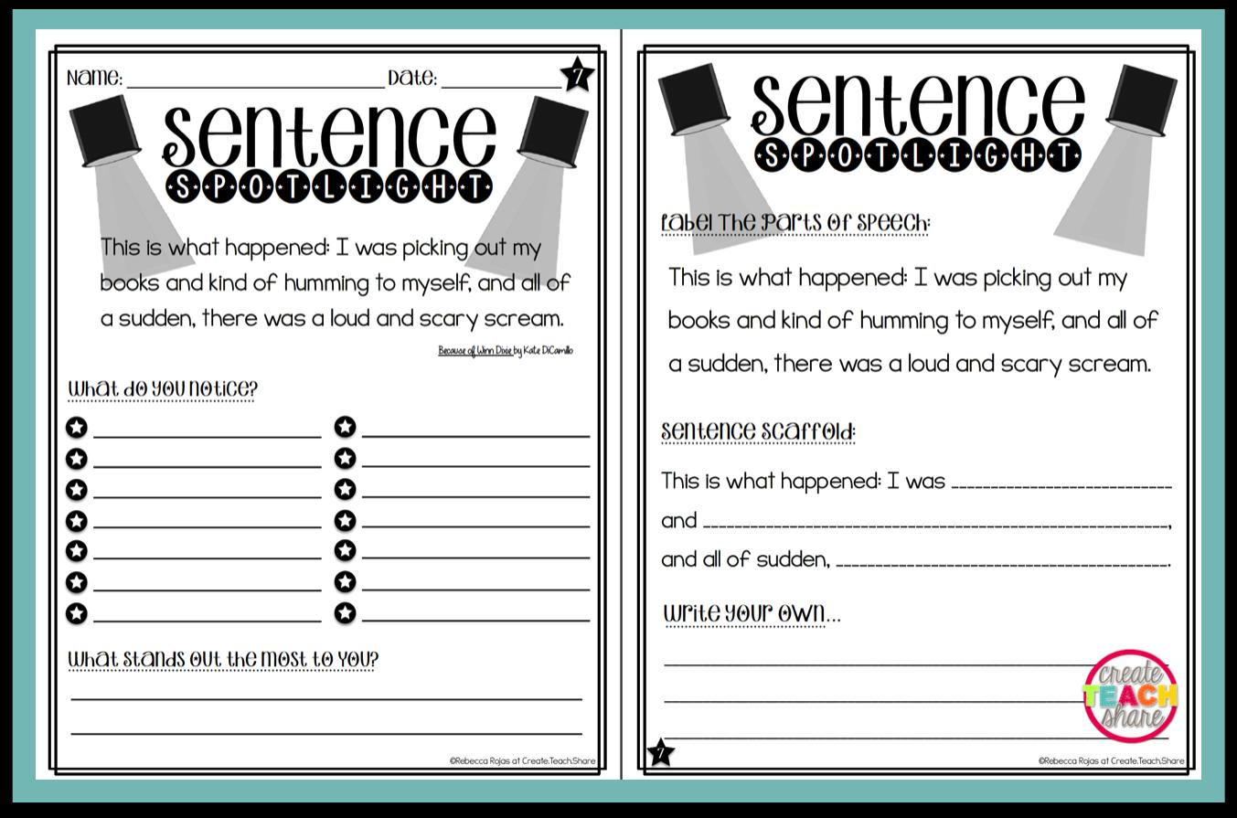 Putting the Spotlight on Mentor Sentences | Teacher | Mentor