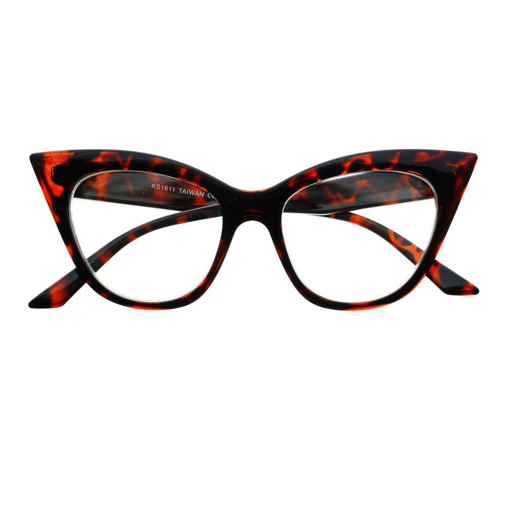 Designer Fashion Pearls Clear Lens Oversized Round Glasses