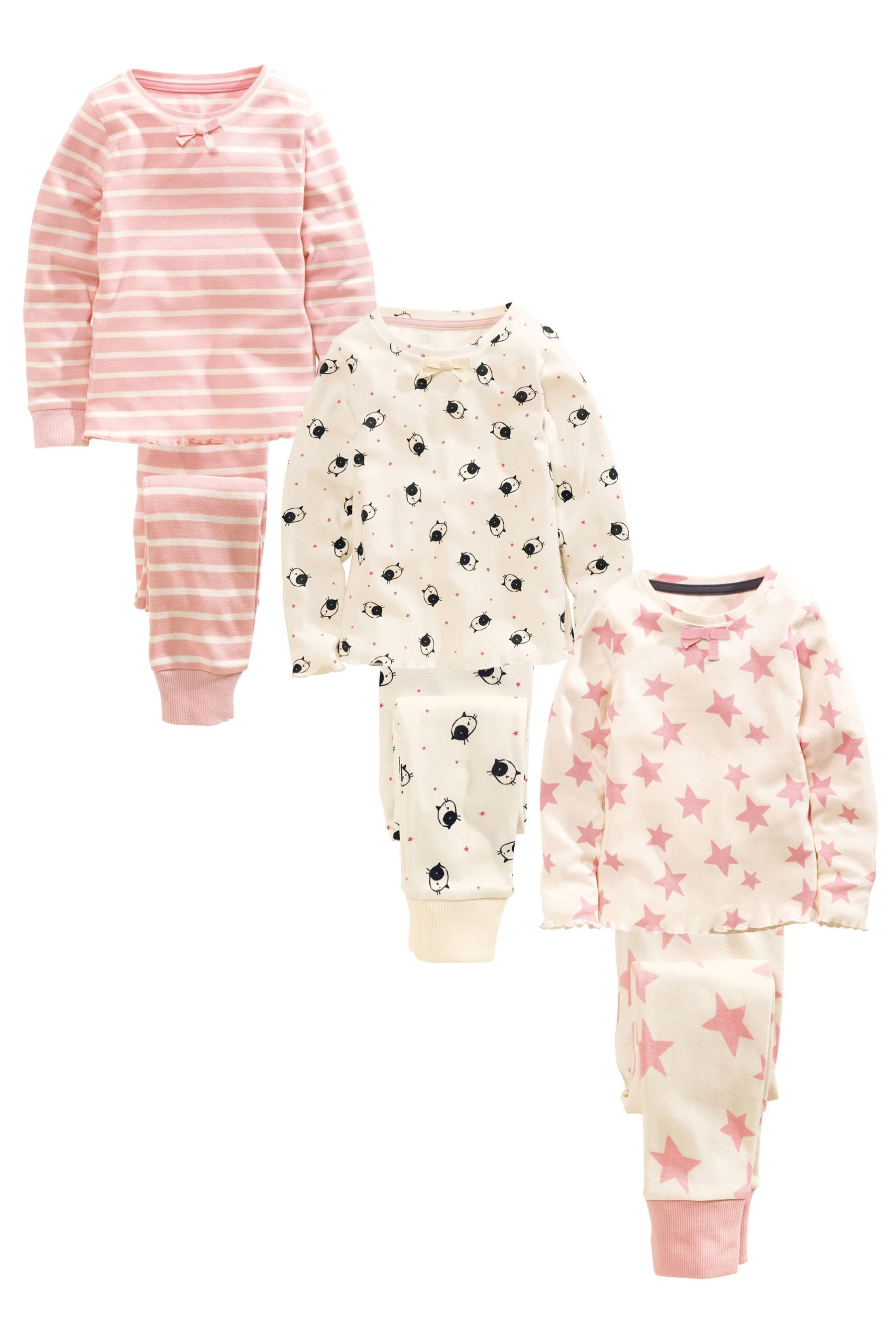 c002f471c Buy Three Pack Star Cat Snuggle Pyjamas (12mths-8yrs) from the Next UK  online shop