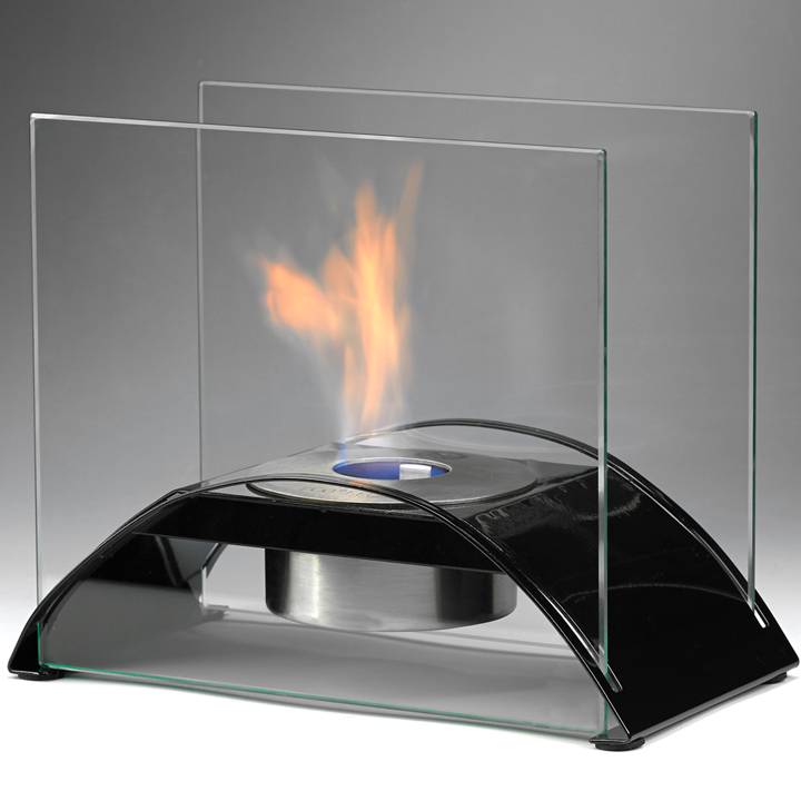 Eco-Feu Sunset - Tabletop Ethanol Fireplace - Gloss Black (TT-00113-GB)