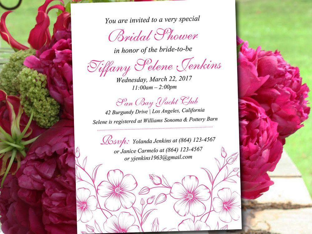 Bridal Shower Invitation Template - Wedding Shower Template - bridal shower invitation templates download